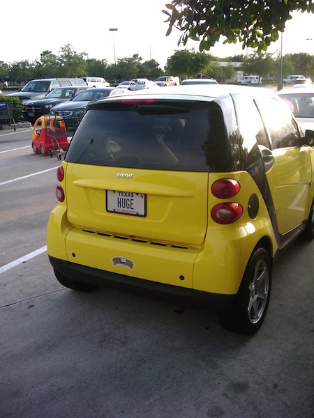 ironic license plates, funny license plates, huge