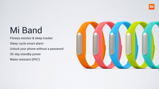 Xiaomi fitness band tracker