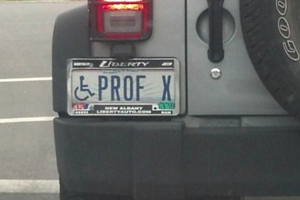 ironic license plates, funny license plates, prof x