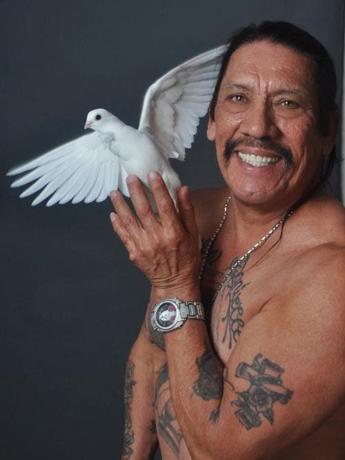 manliest photos on the internet, funny manly images, danny trejo dove