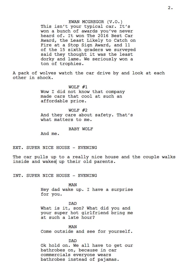 Funny orbit commercial script