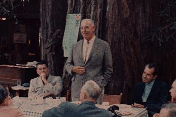 most hilarious moments from history, funny history, richard nixon bohemian grove