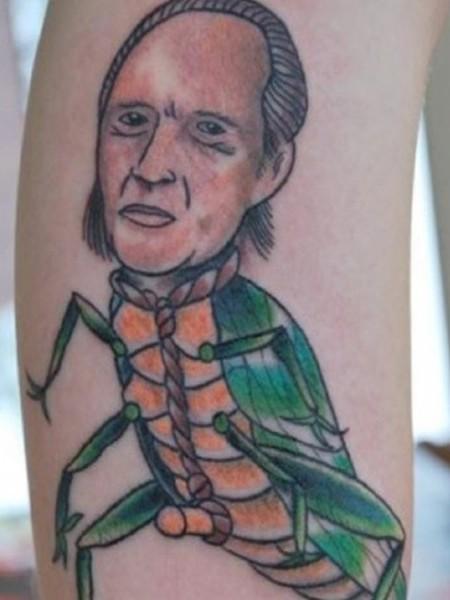 worst tattoos of celebrities, david carridine