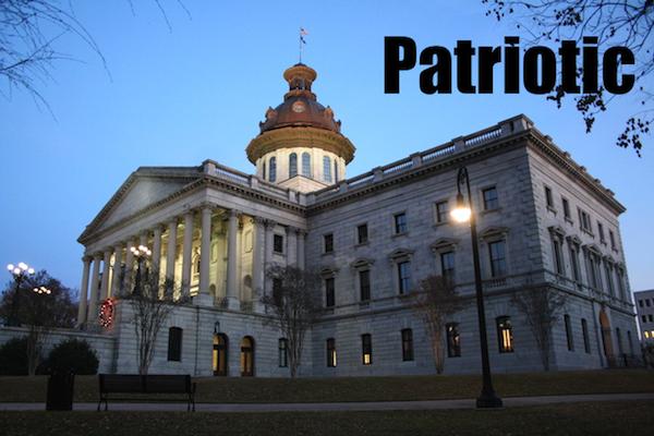 50 words for 50 states, south carolina patriotic