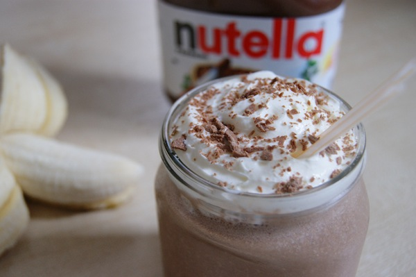 nutella recipes, things to do with nutella, nutella milkshake