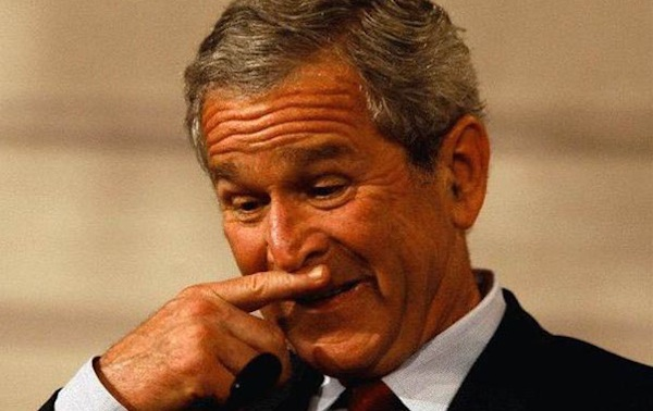 male struggles that are definitely real, common man problems, george bush smelling finger