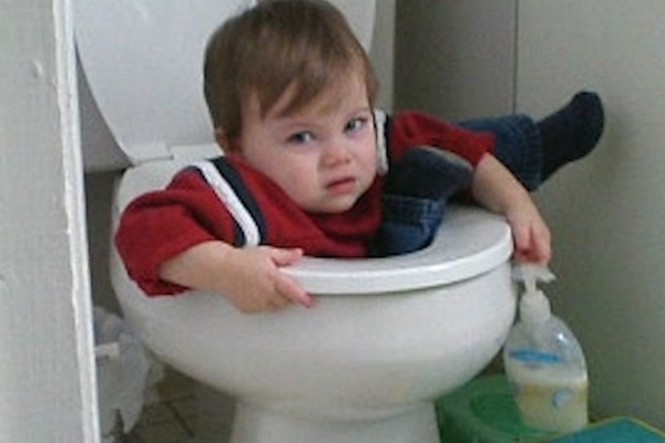 deadly toilet encounters, child in toilet
