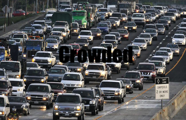 50 words for 50 states, california crowded