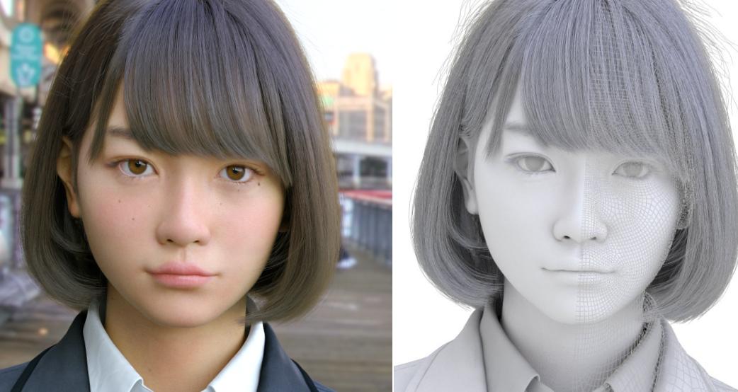 Engadget Japanese日本版3DCG女子高生Saya2016がヤバい出来に。完全に不気味の谷を超えた 世永玲生