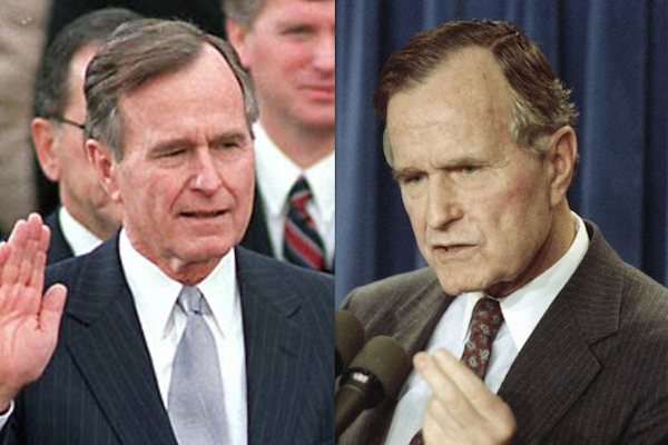 US presidents before and after term, george h w bush