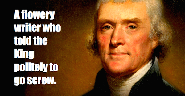 one-line summaries famous historical figures, thomas jefferson