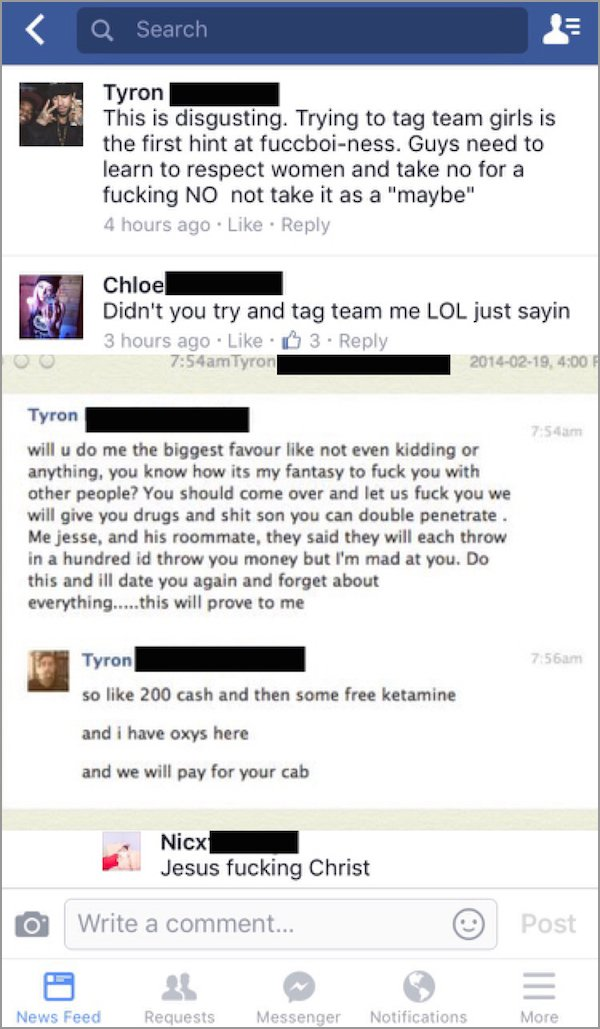 people getting called out on the internet, people called out on their bs, facebook tag team girls