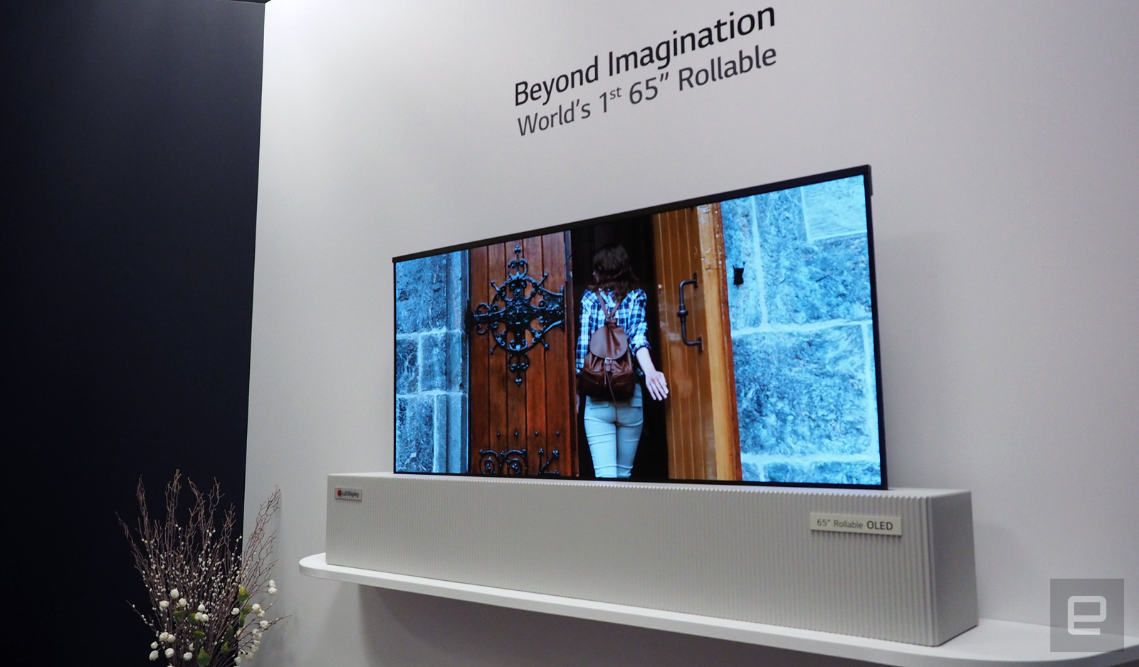 LG Display's giant rollable OLED TV is indistinguishable