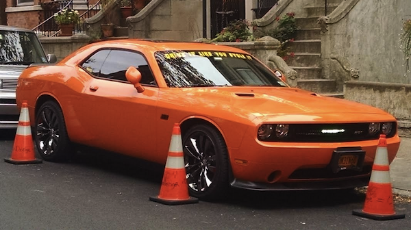 life hacks for assholes, life hacks for a-holes, orange mustang with cones