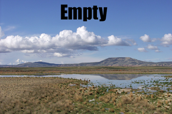 50 words for 50 states, wyoming empty