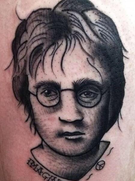 worst tattoos of celebrities, daniel radcliffe harry potter