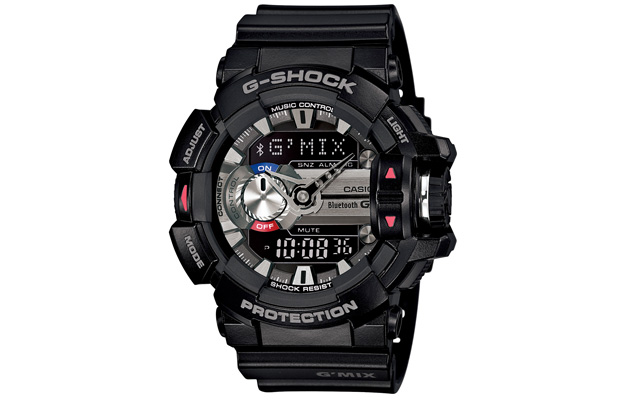 0759da17dec3a Casio s team of smart-ish G-Shock watches is getting a new member next  month that s fixated on finding new music. The romantically named GBA-400  retains the ...