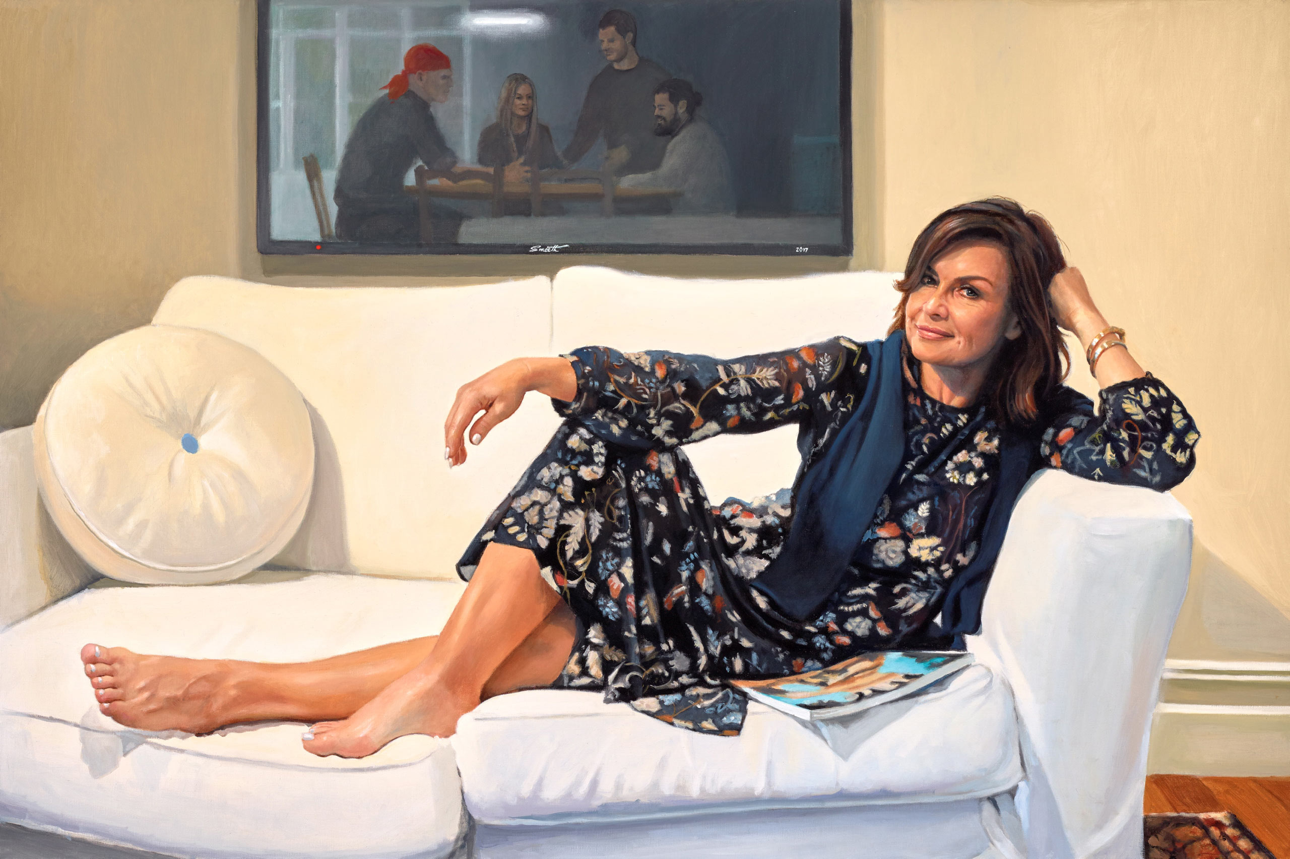 Lisa Wilkinson Portrait Wins Packing Prize In The Archibalds