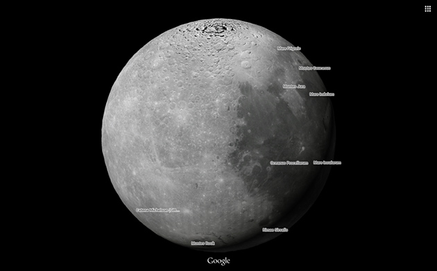 Google Maps Katsuya Locator Map Flag: Explore The Moon And Mars With Google Maps