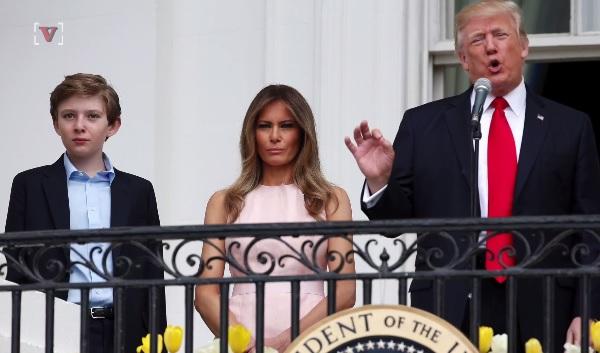永利在线平台登录最小的孩子Baron在整个学年访问白宫进行社交访问