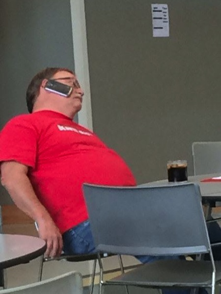 people being extremely lazy, funny lazy people, phone on face