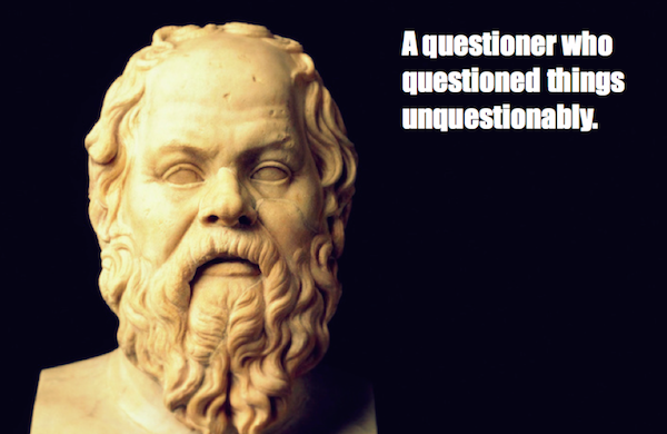 one-line summaries famous historical figures, socrates