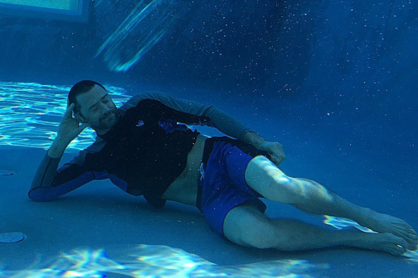 Hugh Jackman Swimming Nude 5