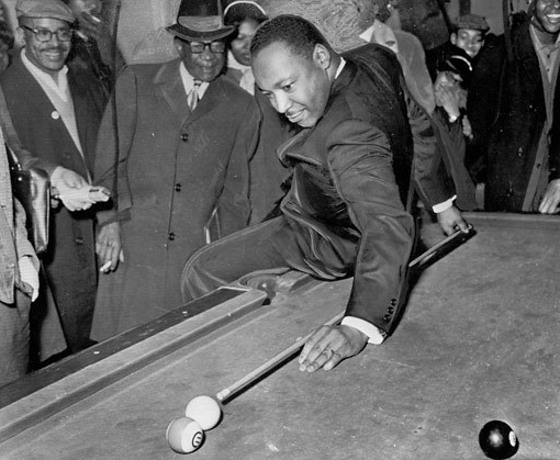 manliest photos on the internet, funny manly images, martin luther king jr playing pool