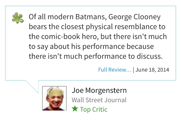 worst rotten tomatoes reviews, most rotten reviews from rotten tomatoes, batman & robin