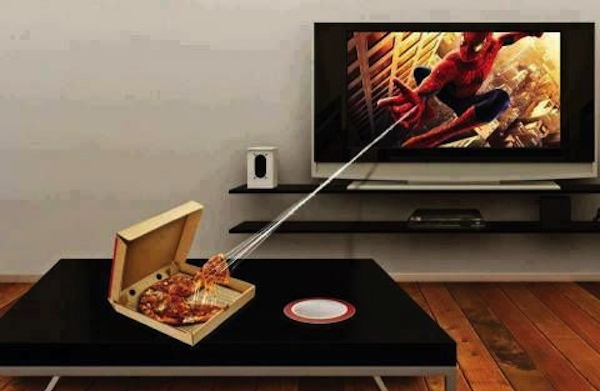 superheroes being super a-holes, superheroes being jerks funny, spider-man webbing pizza