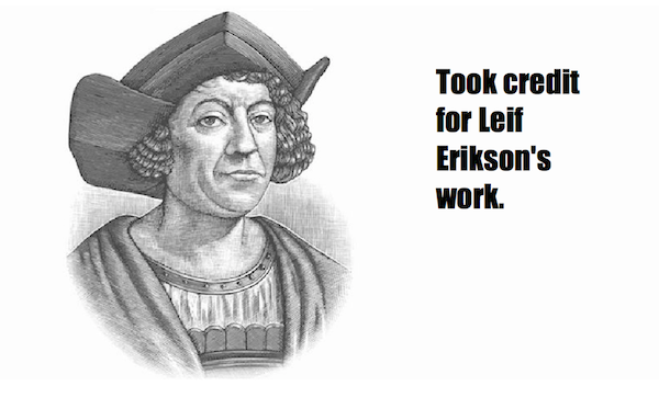 one-line summaries famous historical figures, christopher columbus