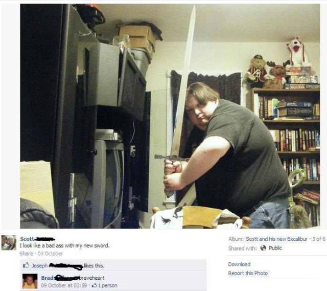 Funny, Guys Trying To Be A Badass, Badass Fail