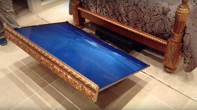 dream machine versenkt flachglotze unterm bett engadget. Black Bedroom Furniture Sets. Home Design Ideas