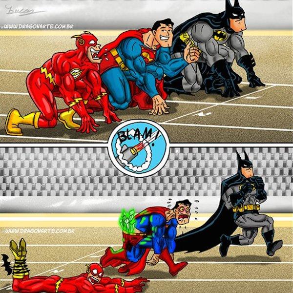 superheroes being aholes, batman v superman & flash