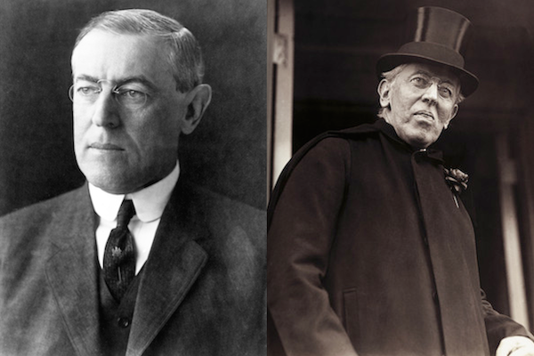 US presidents before and after term, woodrow wilson