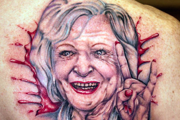 worst tattoos of celebrities, betty white