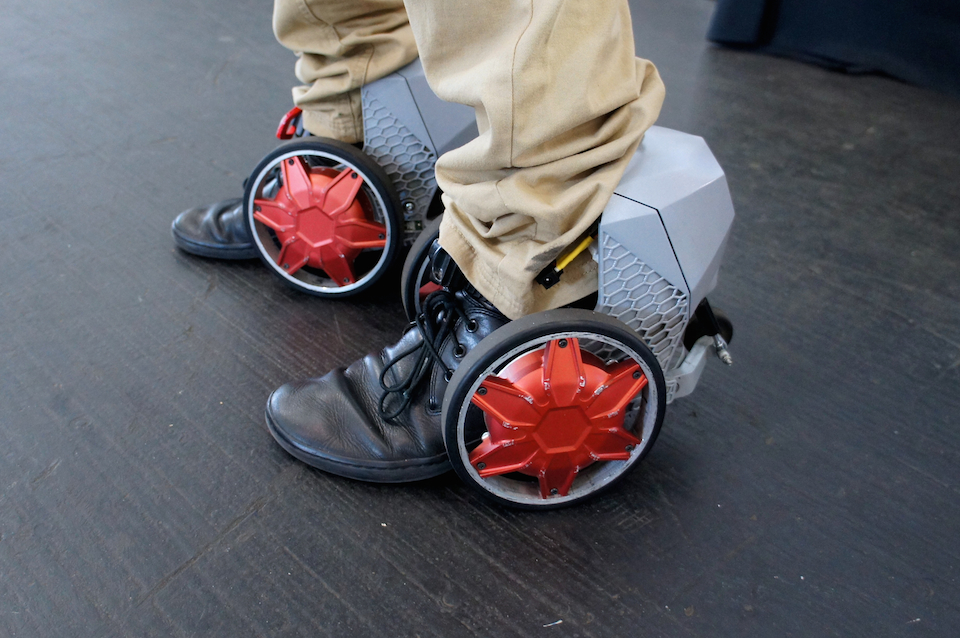 RocketSkates let you zip along the sidewalk at a top speed of 12MPHRocket Powered Shoes