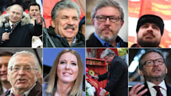 Les 7 candidats fantoches face à Poutine à la présidentielle