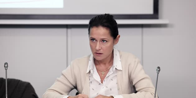 "Sidse Babett Knudsen interprète  Irène Frachon  dans ""La fille de Brest""."