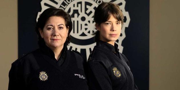Las protagonistas de la serie Servir y Proteger, Luisa Martín y Andrea del Río.