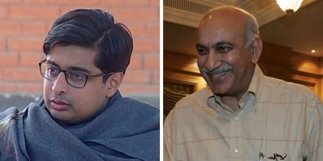 (From left) Prashant Jha and MJ Akbar.