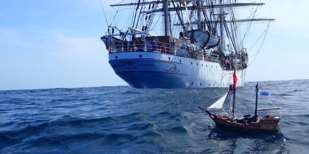 Un barco pirata de Playmobil lanzado desde Canarias cruza el Atlántico hasta Sudamérica