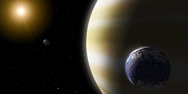 """A-t-on détecté pour la première fois une exolune, """"Kepler-1625b I"""" ?"""