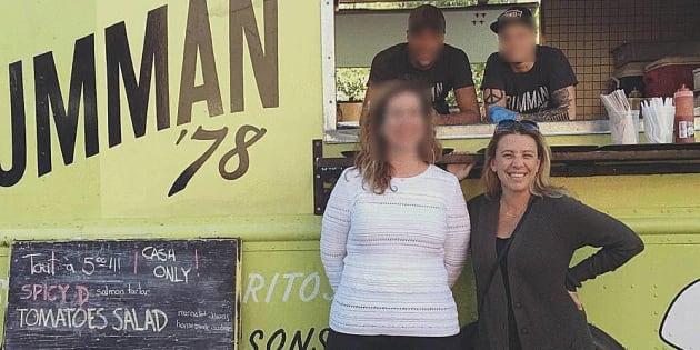Gaëlle Cerf (à droite) nie que son association exerce une quelconque influence sur les entreprises qui cherchent un camion de cuisine de rue.