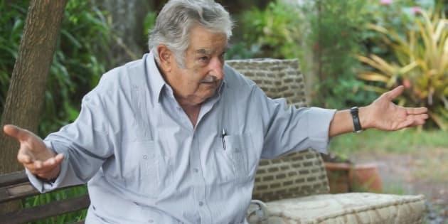 Pepe Mujica em entrevista para Pedro Bial.