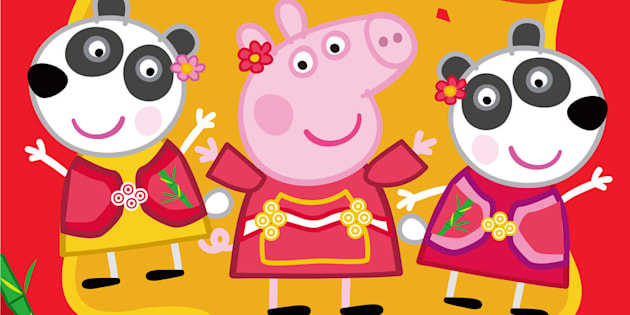 Image result for peppa pig celebrates chinese new year