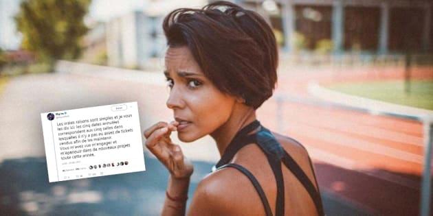 Shy'm annonce l'annulation de cinq concerts dont les tickets ne se sont pas vendus