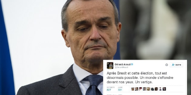 """Désemparé par le résultat de l'élection américaine, Gérard Araud, l'ambassadeur français aux Etats-Unis déplore """"un monde qui s'effondre"""""""