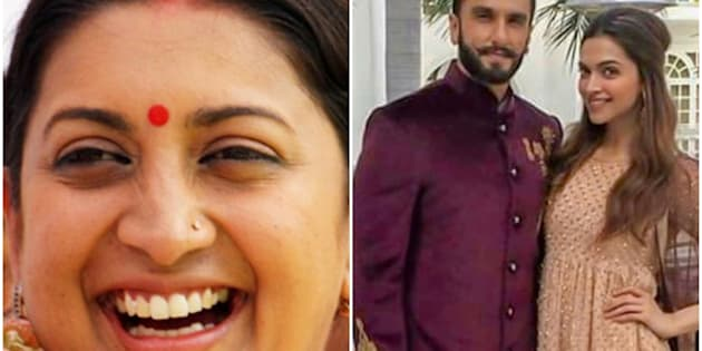Smriti Irani Expertly Trolled Ranveer-Deepika For Making Everyone Wait For Their Wedding Pictures