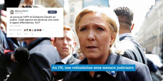 Marine Le Pen veut porter plainte contre l'AFP — Kits de campagne